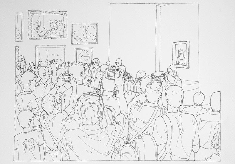 Art turizam #1, 2005, rapidograf na papiru, 35x50cm