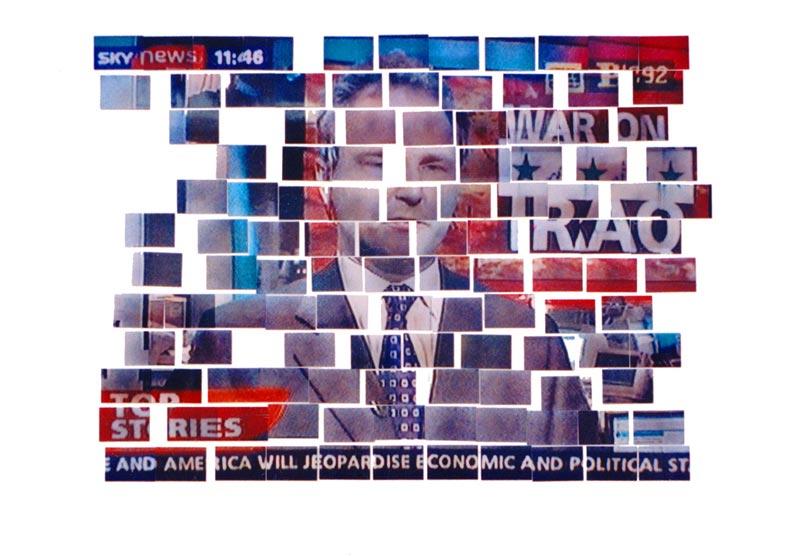 Breaking News, 2003, fotografije, oko 300x400cm