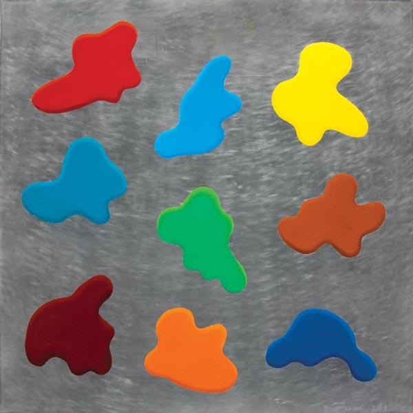 Glupa slika #3, 2009, ulje na aluminijumu, 92x92cm