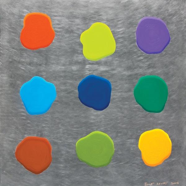 Glupa slika #5, 2009, ulje na aluminijumu, 92x92cm