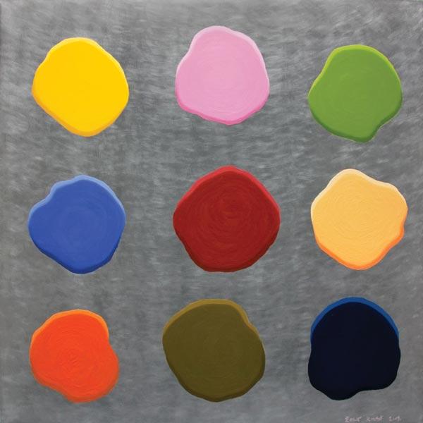 Glupa slika #9, 2009, ulje na aluminijumu, 92x92cm
