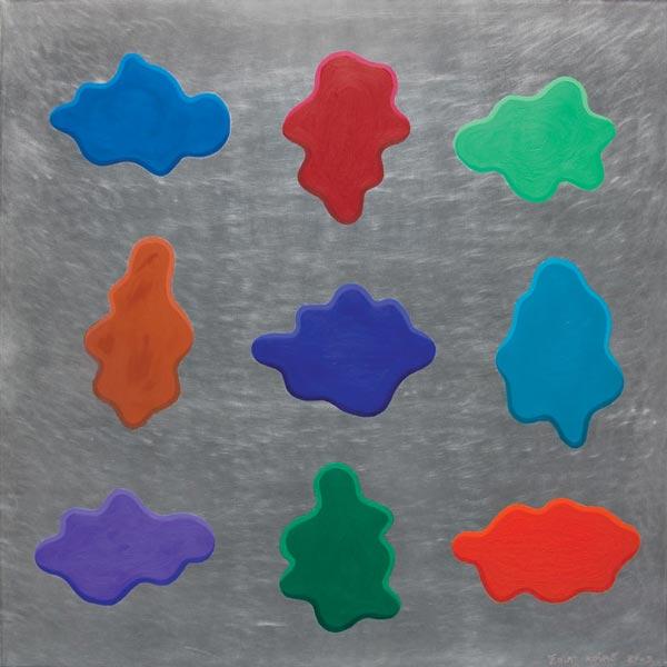 Glupa slika #13, 2009, ulje na aluminijumu, 92x92cm