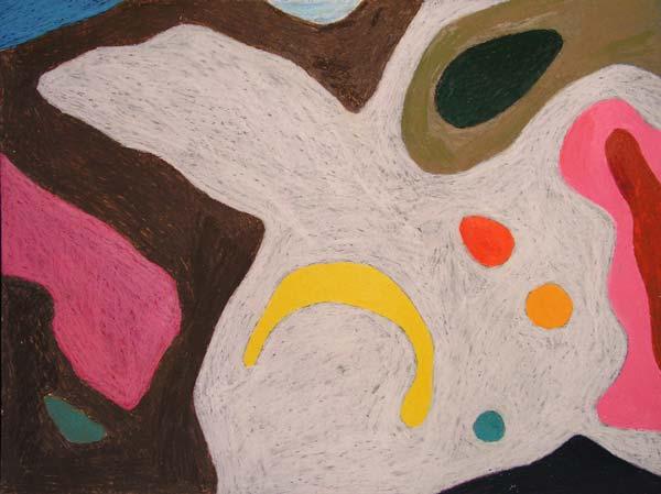 Jednostavno ništa #1, 2005, uljani pastel na papiru, 35x50cm