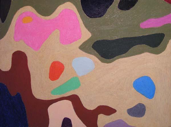 Jednostavno ništa #4, 2005, uljani pastel na papiru, 35x50cm