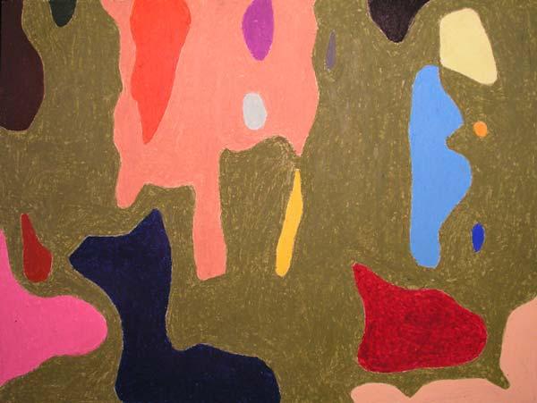 Jednostavno ništa #5, 2005, uljani pastel na papiru, 35x50cm