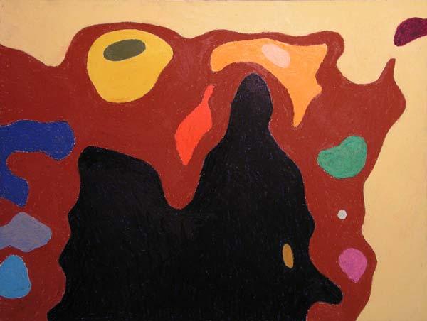 Jednostavno ništa #6, 2005, uljani pastel na papiru, 35x50cm