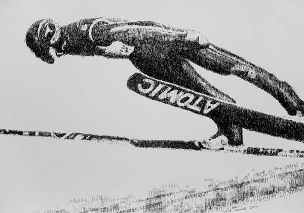 Skakač, 2010, rapidograf na papiru, 35x50cm