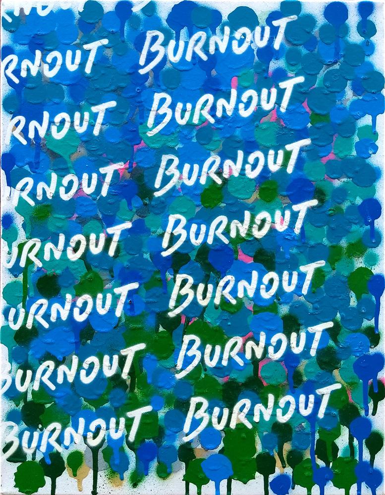 Burnout, 2019, sprej na platnu, 45x35cm