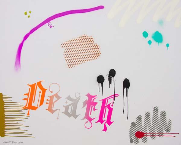 Death, 2017, spray on canvas, 120x150cm