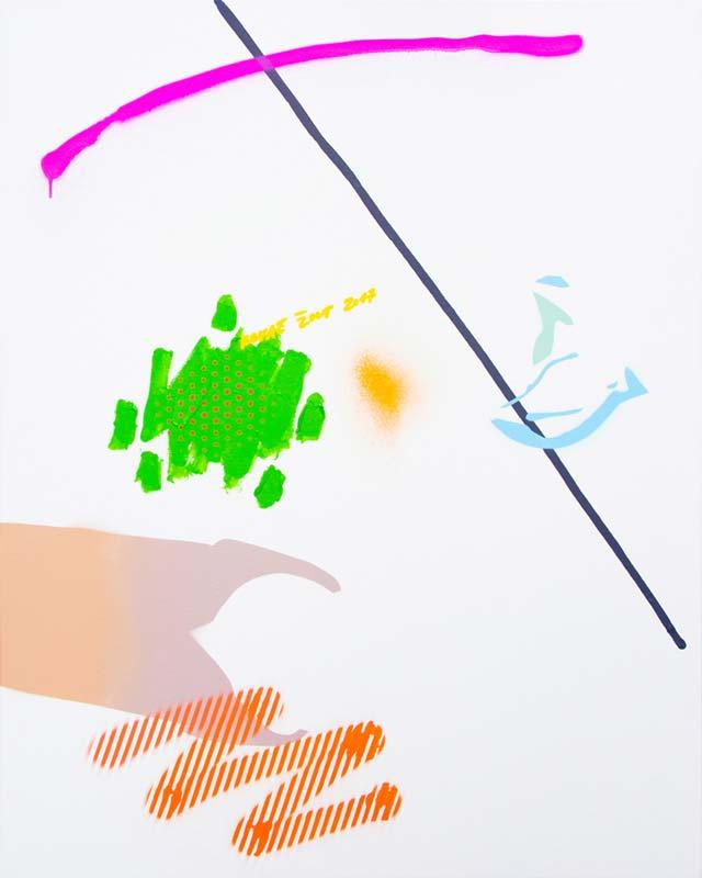 PNJH#3, 2018, akrilik i sprej na platnu, 80x100cm