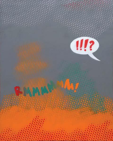 RMMMMMM!, 2016, acrylic and spray on canvas, 100x80cm