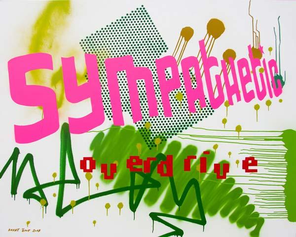 Sympathetic Overdrive, 2017, spray on canvas, 120x150cm