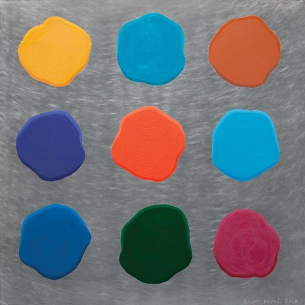 Stupid Painting #10, 2009, oil on aluminium, 92x92cm