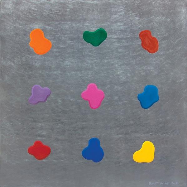 Stupid Painting #15, 2009, oil on aluminium, 92x92cm