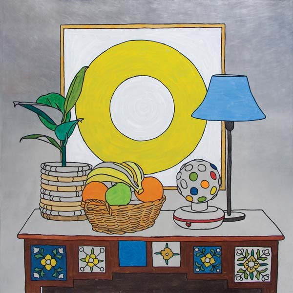 Still Life With Chineese Lamp, 2008, oil on aluminium, 100x100cm